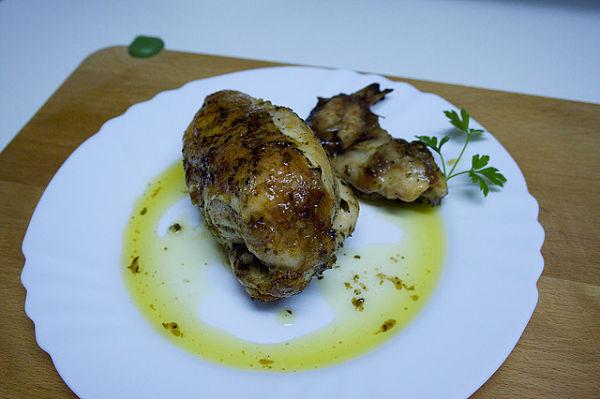 Pollo al ajillo receta