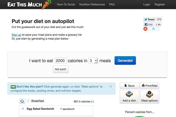 EatThisMuch perder peso ganar músculo