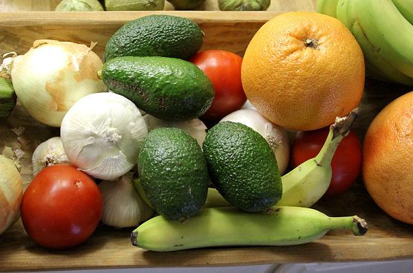 tabaco frutas verduras