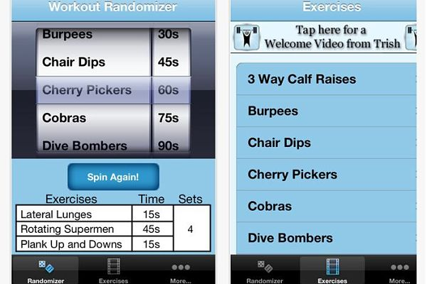Workout Randomizer iphone