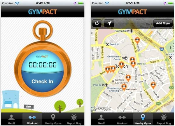 GymPact app gimnasio