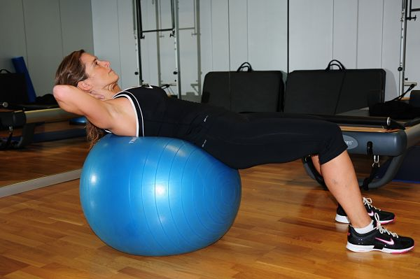 abdominales fitball