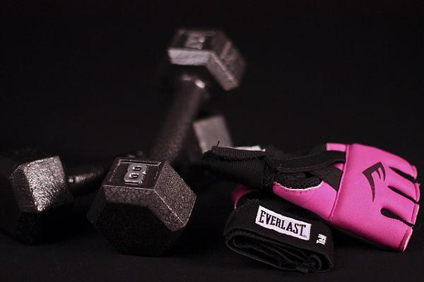 entrenar con guantes gimnasio
