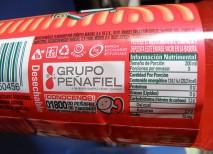 etiquetado nutricional alimentos
